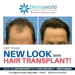 Get a new and fresh look with the Hair Transplant at Dermaworld Skin And Hair Clinics.
